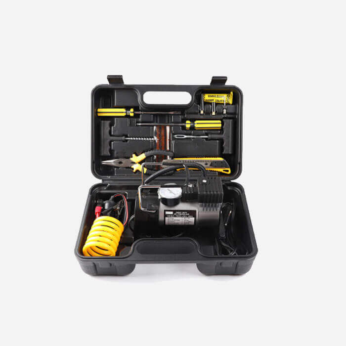 Emergency Tools Air Compressor Set Tyre Repair Kit